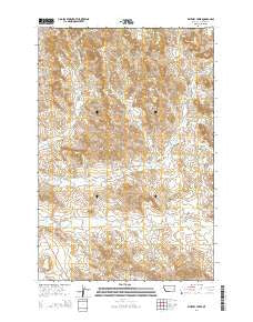 Whitney Creek Montana Current topographic map, 1:24000 scale, 7.5 X 7.5 Minute, Year 2014