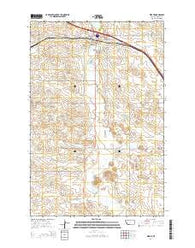 Wibaux Montana Current topographic map, 1:24000 scale, 7.5 X 7.5 Minute, Year 2014