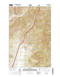 Wickes Montana Current topographic map, 1:24000 scale, 7.5 X 7.5 Minute, Year 2014