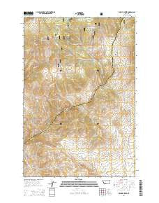 Wickiup Creek Montana Current topographic map, 1:24000 scale, 7.5 X 7.5 Minute, Year 2014