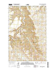 Wild Bill Flat East Montana Current topographic map, 1:24000 scale, 7.5 X 7.5 Minute, Year 2014