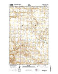 Wild Horse Butte Montana Current topographic map, 1:24000 scale, 7.5 X 7.5 Minute, Year 2014