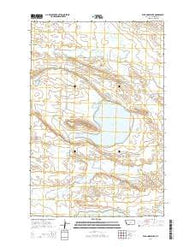 Wild Horse Lake Montana Current topographic map, 1:24000 scale, 7.5 X 7.5 Minute, Year 2014