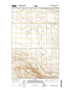 Wild Horse Lake East Montana Current topographic map, 1:24000 scale, 7.5 X 7.5 Minute, Year 2014