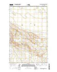 Wild Horse Lake West Montana Current topographic map, 1:24000 scale, 7.5 X 7.5 Minute, Year 2014