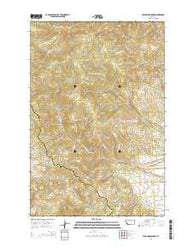 Wild Horse Parks Montana Current topographic map, 1:24000 scale, 7.5 X 7.5 Minute, Year 2014