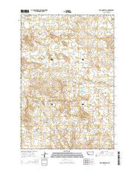 Wild Horse Pass Montana Current topographic map, 1:24000 scale, 7.5 X 7.5 Minute, Year 2014