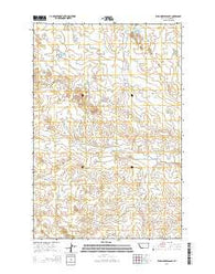 Wild Horse Pass SE Montana Current topographic map, 1:24000 scale, 7.5 X 7.5 Minute, Year 2014