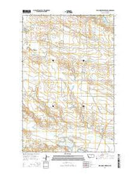 Wild Horse Reservoir Montana Current topographic map, 1:24000 scale, 7.5 X 7.5 Minute, Year 2014