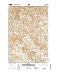 Willard Montana Current topographic map, 1:24000 scale, 7.5 X 7.5 Minute, Year 2014