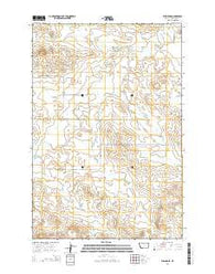 Willard SE Montana Current topographic map, 1:24000 scale, 7.5 X 7.5 Minute, Year 2014
