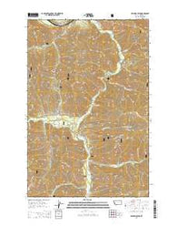 Williams Peak Montana Current topographic map, 1:24000 scale, 7.5 X 7.5 Minute, Year 2014