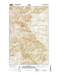 Williamson Butte Montana Current topographic map, 1:24000 scale, 7.5 X 7.5 Minute, Year 2014