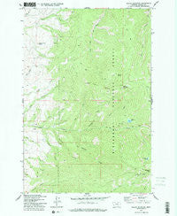 Willow Mountain Montana Historical topographic map, 1:24000 scale, 7.5 X 7.5 Minute, Year 1977