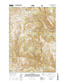 Windy Hill Montana Current topographic map, 1:24000 scale, 7.5 X 7.5 Minute, Year 2014