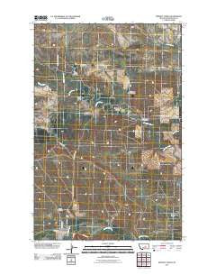 Winnett North Montana Historical topographic map, 1:24000 scale, 7.5 X 7.5 Minute, Year 2011