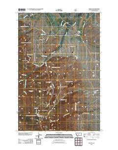 Winston Montana Historical topographic map, 1:24000 scale, 7.5 X 7.5 Minute, Year 2011