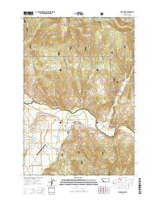 Wise River Montana Current topographic map, 1:24000 scale, 7.5 X 7.5 Minute, Year 2014