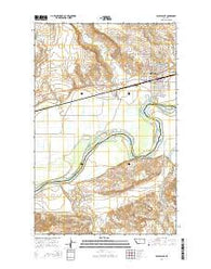 Wolf Point Montana Current topographic map, 1:24000 scale, 7.5 X 7.5 Minute, Year 2014