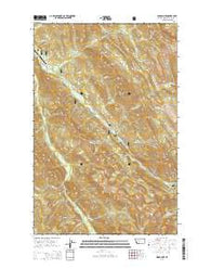 Wood Lake Montana Current topographic map, 1:24000 scale, 7.5 X 7.5 Minute, Year 2014
