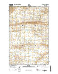 Woodhawk Hill Montana Current topographic map, 1:24000 scale, 7.5 X 7.5 Minute, Year 2014