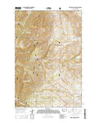 Woodhurst Mountain Montana Current topographic map, 1:24000 scale, 7.5 X 7.5 Minute, Year 2014