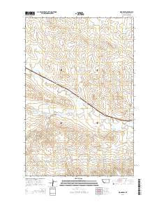 Woodrow Montana Current topographic map, 1:24000 scale, 7.5 X 7.5 Minute, Year 2014