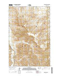 Woods Water Montana Current topographic map, 1:24000 scale, 7.5 X 7.5 Minute, Year 2014