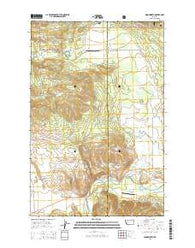 Woodworth Montana Current topographic map, 1:24000 scale, 7.5 X 7.5 Minute, Year 2014
