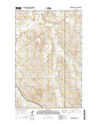Woodworth Hill Montana Current topographic map, 1:24000 scale, 7.5 X 7.5 Minute, Year 2014
