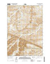 Woody Mountain Montana Current topographic map, 1:24000 scale, 7.5 X 7.5 Minute, Year 2014