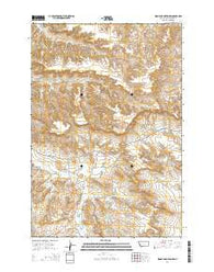 Woody Mountain NW Montana Current topographic map, 1:24000 scale, 7.5 X 7.5 Minute, Year 2014