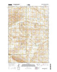 Woody Mountain SE Montana Current topographic map, 1:24000 scale, 7.5 X 7.5 Minute, Year 2014