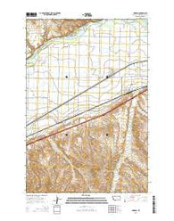 Worden Montana Current topographic map, 1:24000 scale, 7.5 X 7.5 Minute, Year 2014