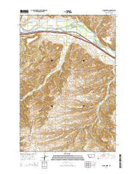 Work Creek Montana Current topographic map, 1:24000 scale, 7.5 X 7.5 Minute, Year 2014