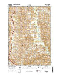 Wyola NE Montana Current topographic map, 1:24000 scale, 7.5 X 7.5 Minute, Year 2014