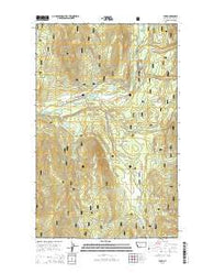 Yaak Montana Current topographic map, 1:24000 scale, 7.5 X 7.5 Minute, Year 2014