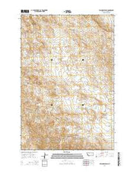Yablonski Ranch Montana Current topographic map, 1:24000 scale, 7.5 X 7.5 Minute, Year 2014