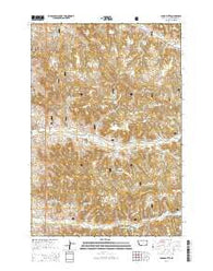 Yager Butte Montana Current topographic map, 1:24000 scale, 7.5 X 7.5 Minute, Year 2014