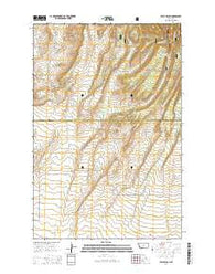 Yaple Bench Montana Current topographic map, 1:24000 scale, 7.5 X 7.5 Minute, Year 2014