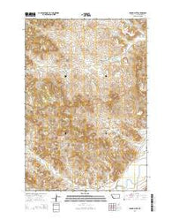 Yarger Butte Montana Current topographic map, 1:24000 scale, 7.5 X 7.5 Minute, Year 2014