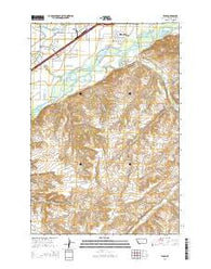 Yegen Montana Current topographic map, 1:24000 scale, 7.5 X 7.5 Minute, Year 2014
