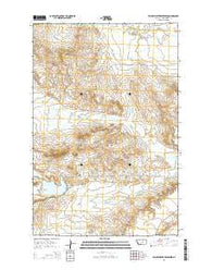 Yellow Water Reservoir Montana Current topographic map, 1:24000 scale, 7.5 X 7.5 Minute, Year 2014