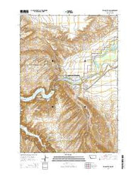 Yellowtail Dam Montana Current topographic map, 1:24000 scale, 7.5 X 7.5 Minute, Year 2014