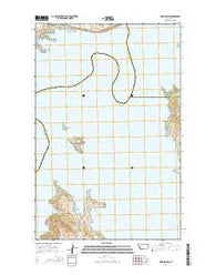 York Island Montana Current topographic map, 1:24000 scale, 7.5 X 7.5 Minute, Year 2014