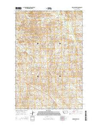 York Reservoir Montana Current topographic map, 1:24000 scale, 7.5 X 7.5 Minute, Year 2014