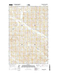 Youngquist Mine Montana Current topographic map, 1:24000 scale, 7.5 X 7.5 Minute, Year 2014