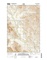Zempel Lake Montana Current topographic map, 1:24000 scale, 7.5 X 7.5 Minute, Year 2014