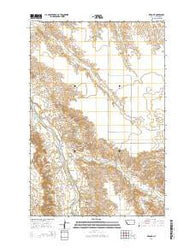 Zero NE Montana Current topographic map, 1:24000 scale, 7.5 X 7.5 Minute, Year 2014