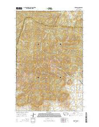 Zortman Montana Current topographic map, 1:24000 scale, 7.5 X 7.5 Minute, Year 2014